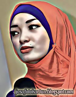 Foto Kartun Zaskia Goyang Itik Berjilbab