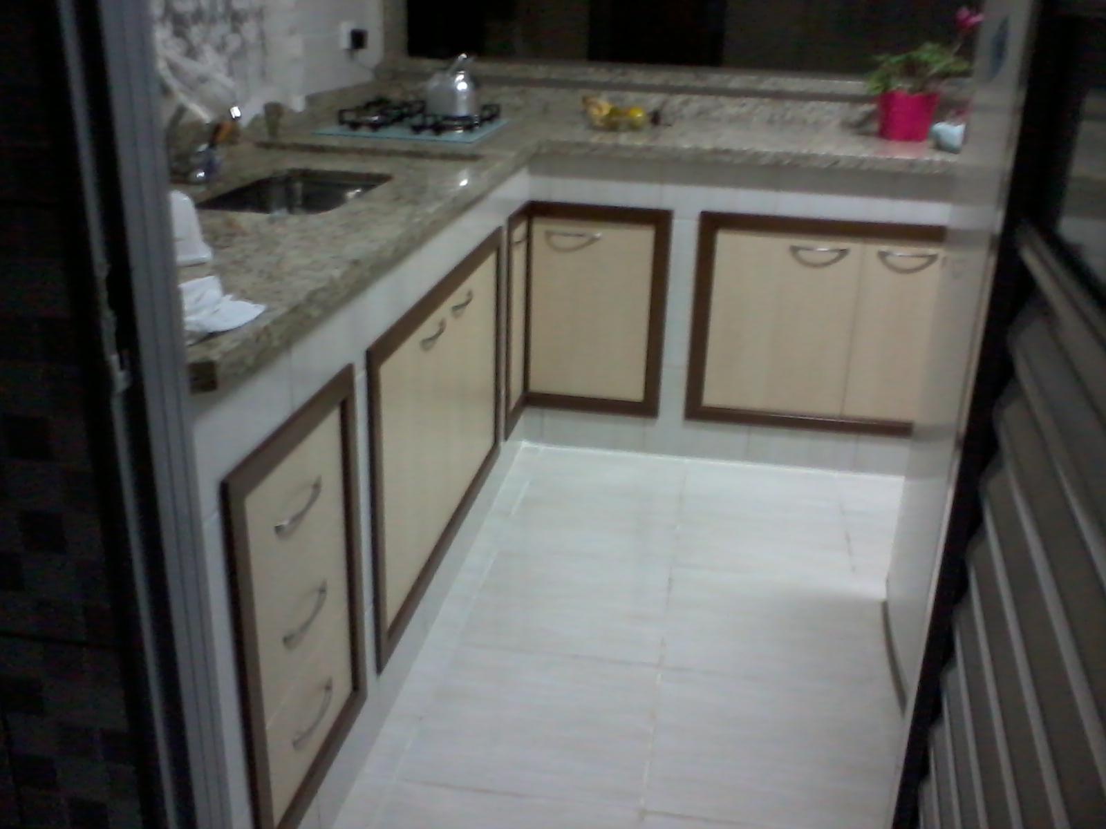 Another Image For Balcão de cozinha de alvenaria Decorando Casas #5F4244 1600 1200