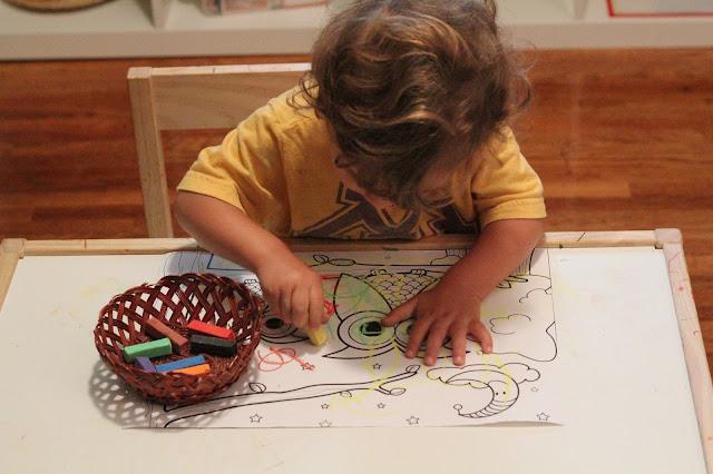 pastels, toddler, montessori, letter o