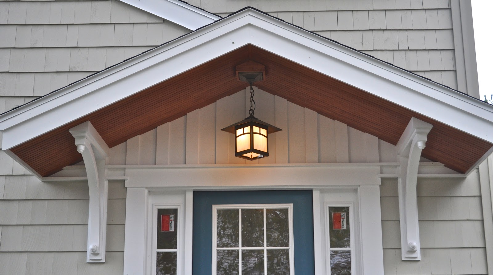 Sopo cottage sunset 4 27 pm good thing we have lights for Front entrance light fixtures
