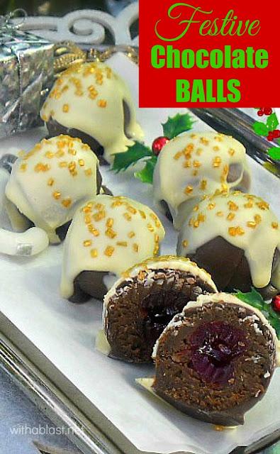 Easy, no bake, delicious Festive Chocolate Balls