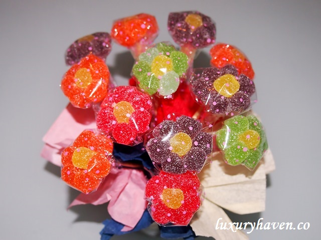 flower gummies bouquet handicrafts