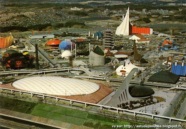 Osaka - Japon - Cartes postales de l'Expo70  L'exposition universelle de Suita (banlieue d'Osaka) au Japon.  14 mars au 13 septembre 1970.