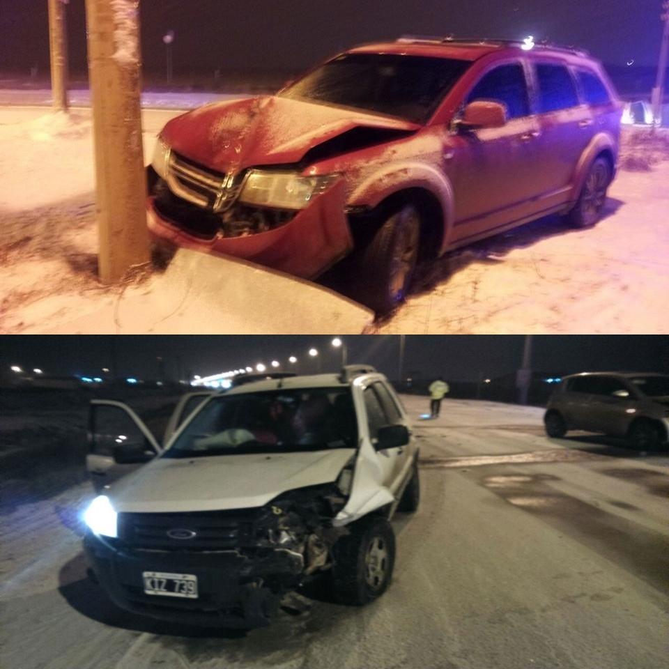 Dos choques con cuatro lesionados