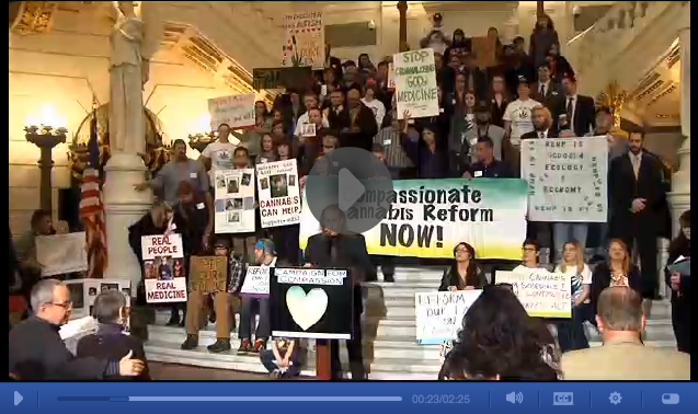 abc27: The Capital Rotunda was filled with people...