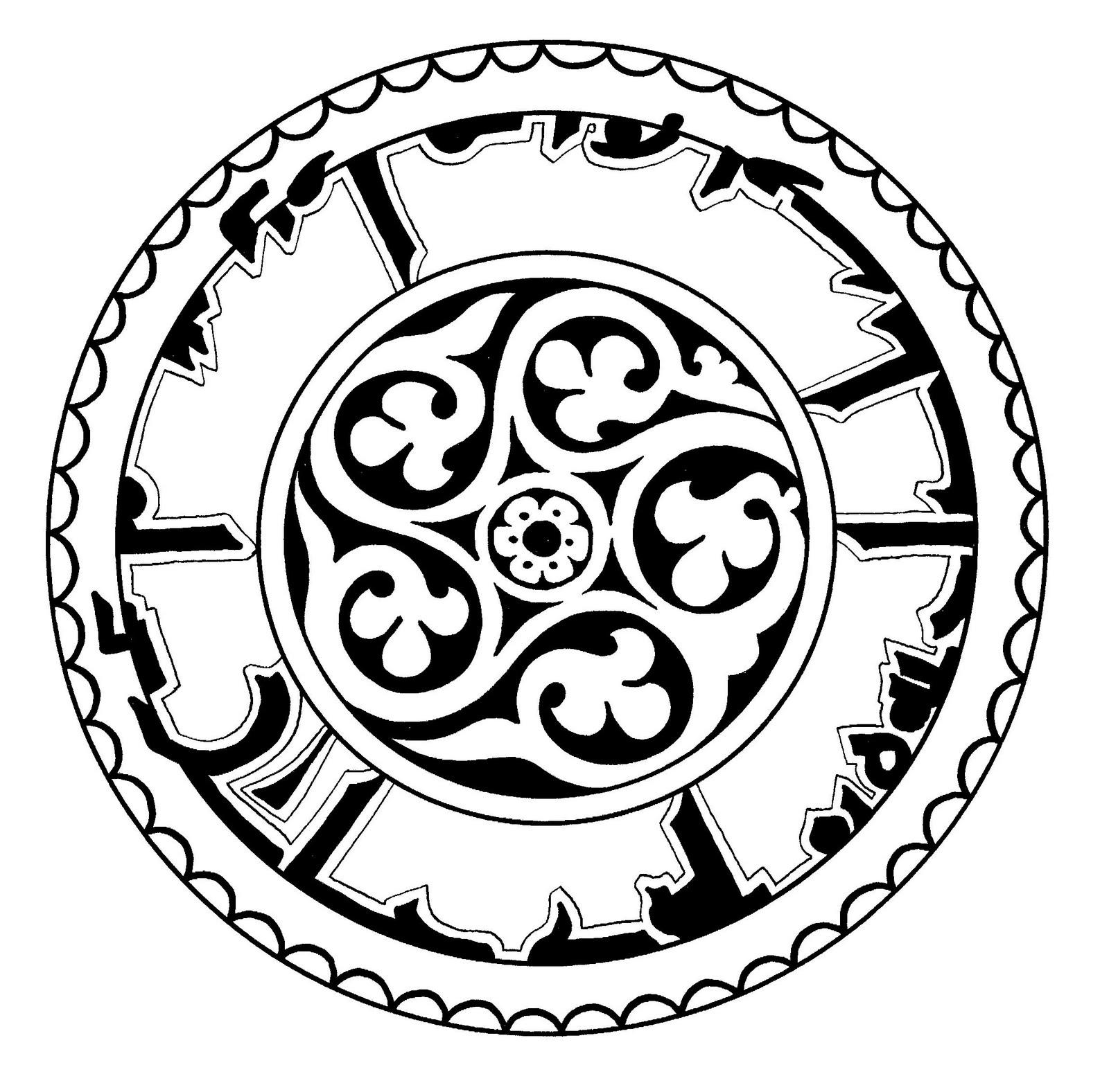 Mandalas Para Pintar: Rueda Persa de Nishapur (Irán)