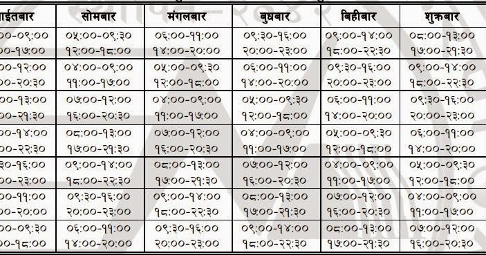 New Load Shedding Schedule Effective From Second Of
