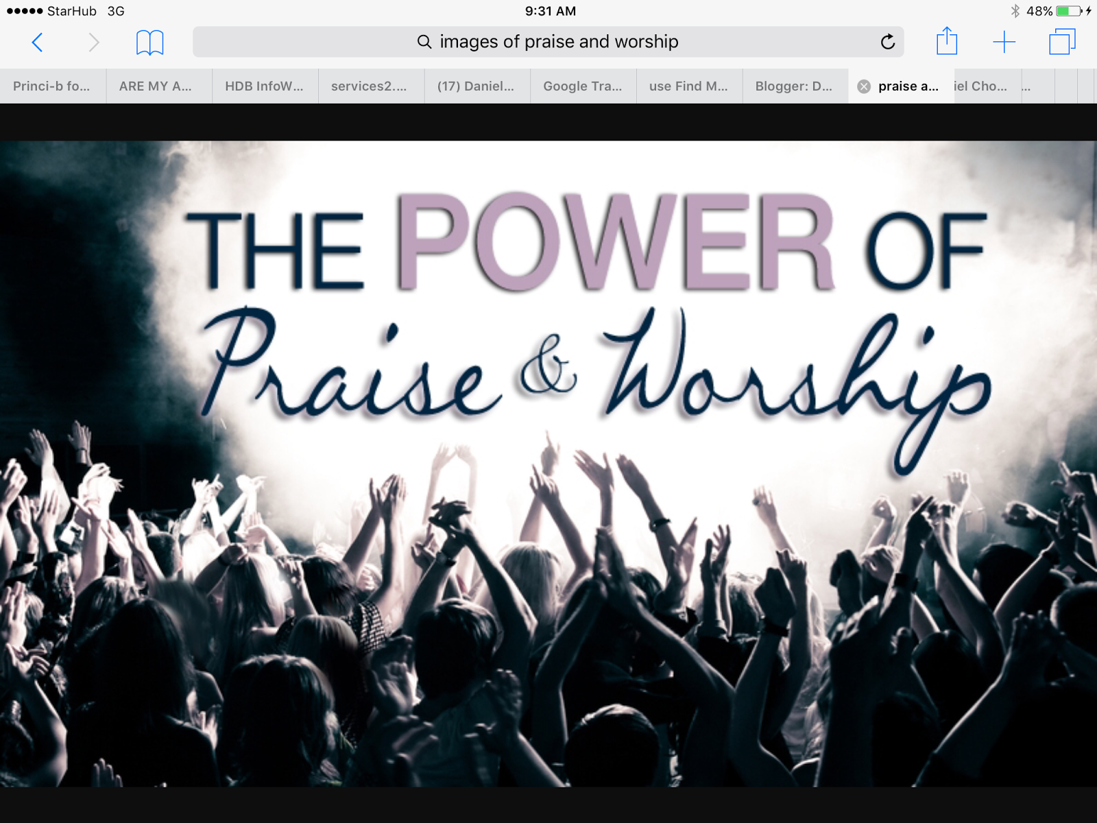 Praise & Worship Content Page