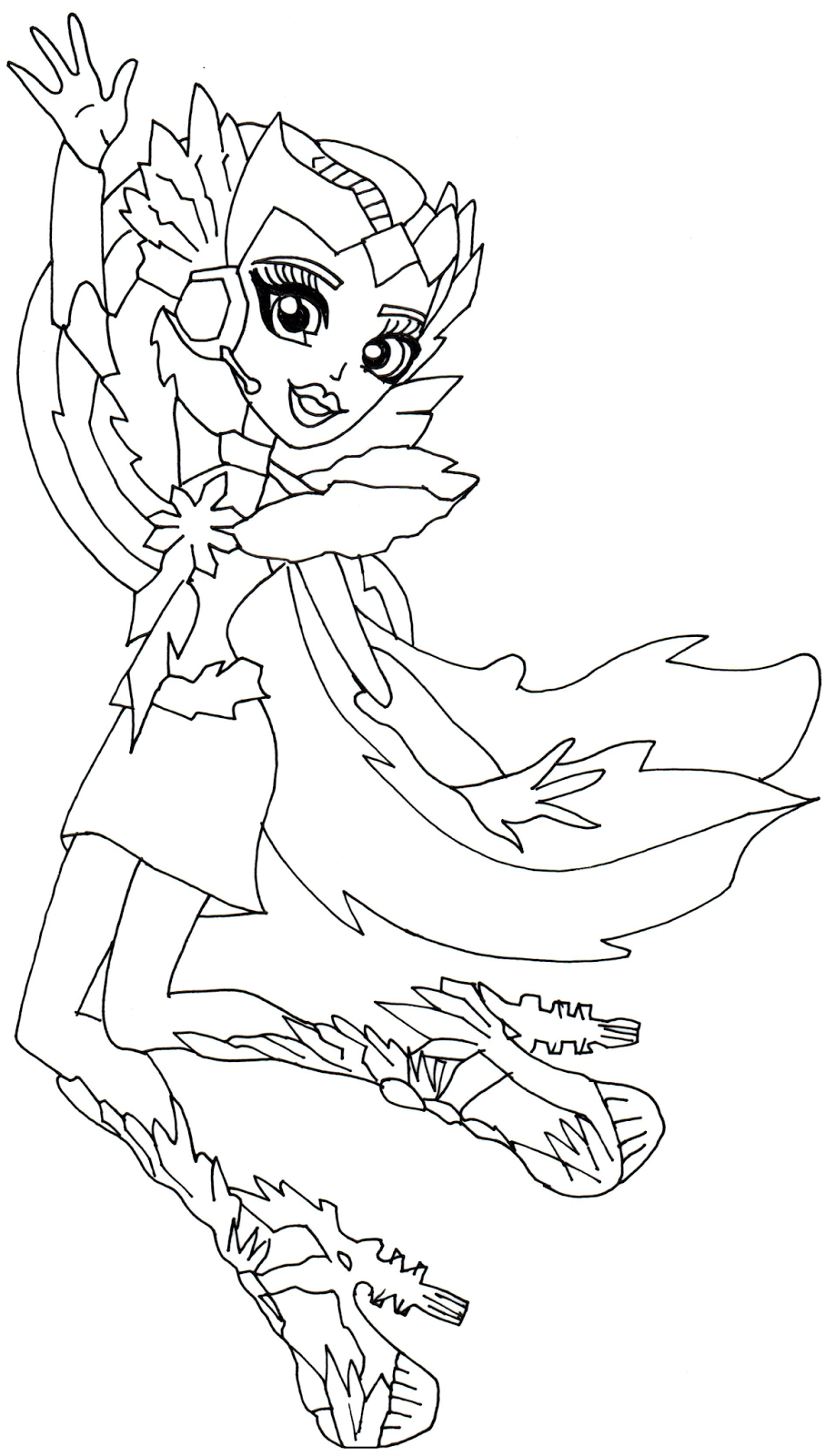 free printable monster high coloring page for astranova in boo york