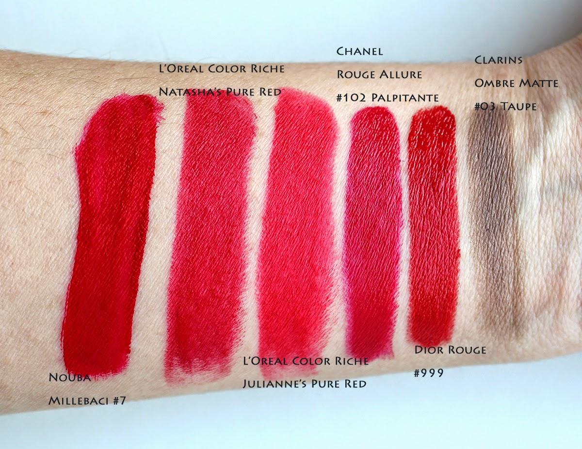 L'Oreal Color Riche Natasha's Pure Red