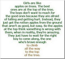 Girls are like apples on a tree