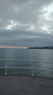 foto de un amanecer en la playa de San Lorenzo, tomada el dia 17 de junio de 2015