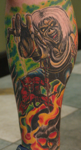 coolest iron maiden tattoos
