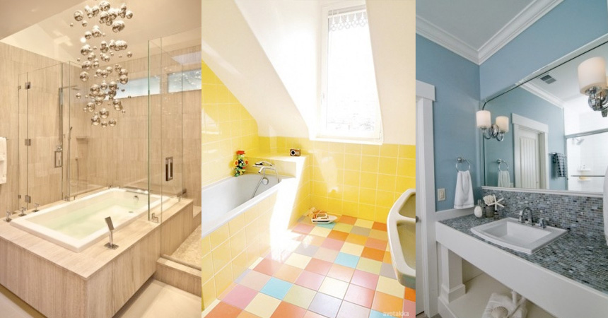 The How-To Gal: Turning a Small Shabby Bathroom into an Urban Chic