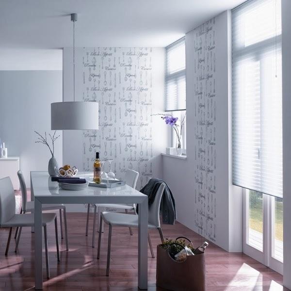 Papel pintado papel pintado cocinas y ba os aqua deco 2015 - Empapelar azulejos cocina ...