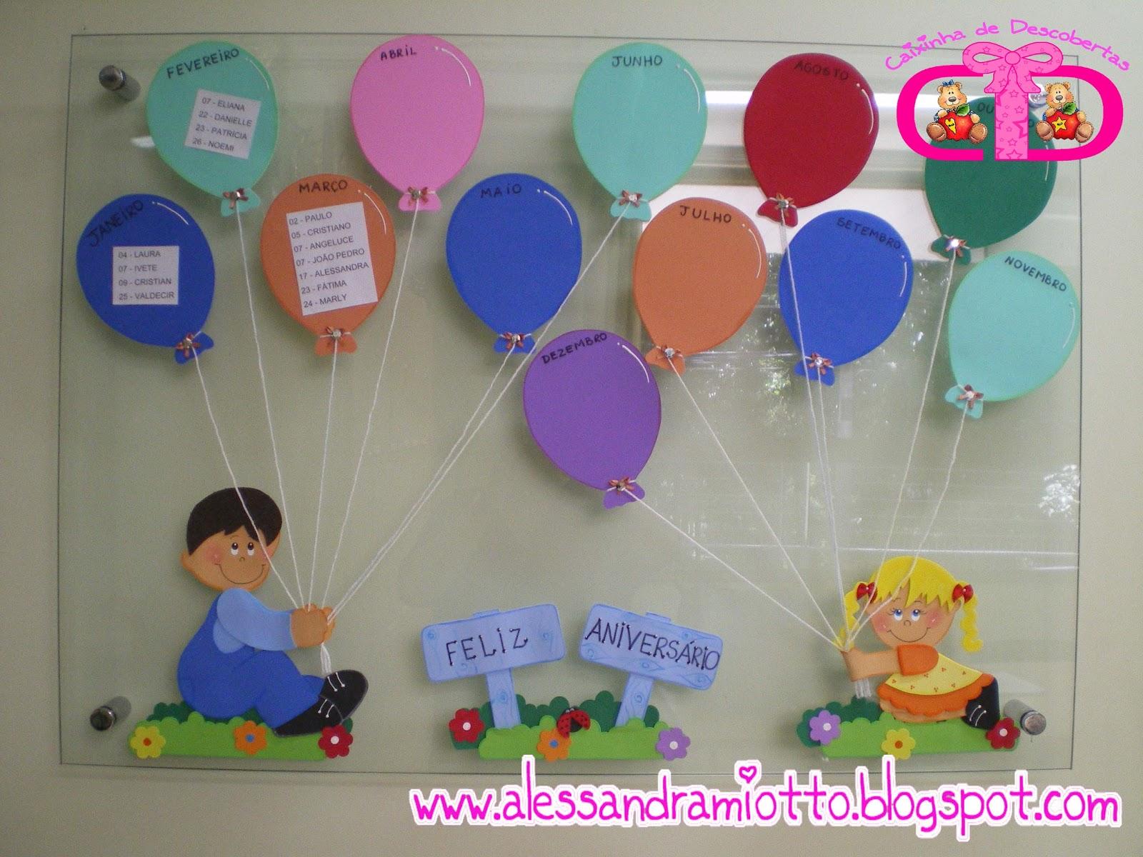 Caixinha De Descobertas Painel De Aniversário Crianças Com Balões
