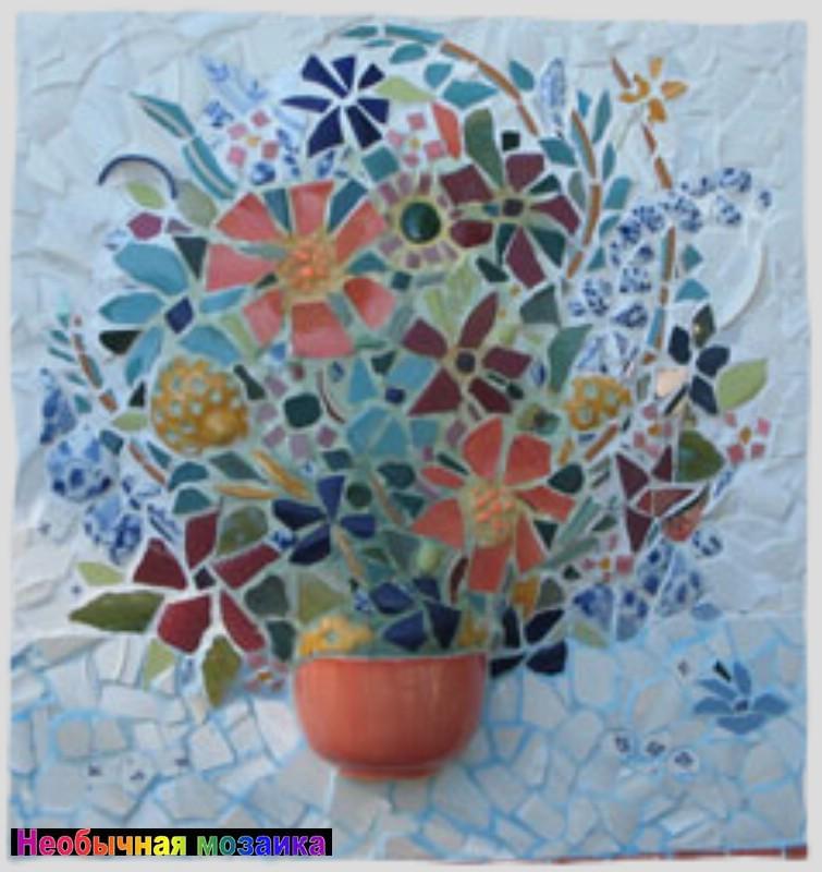 мозаика картинки цветы