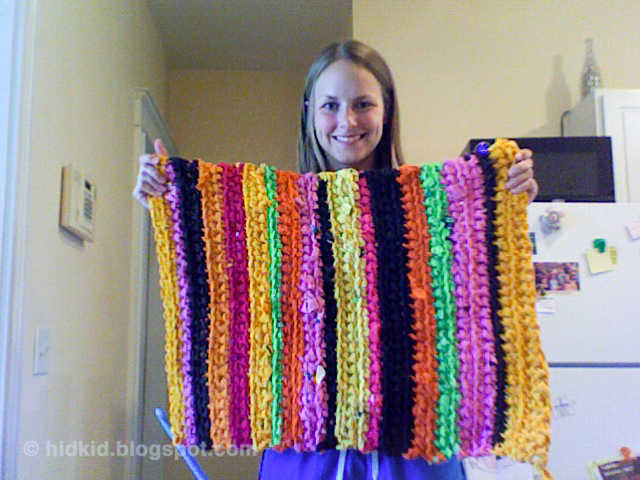 CraftimismCrocheted T-shirt Rug
