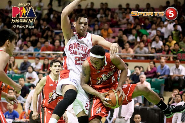 Japeth Aguilar of the Ginebra Gin Kings has been enjoying a superb breakout season.