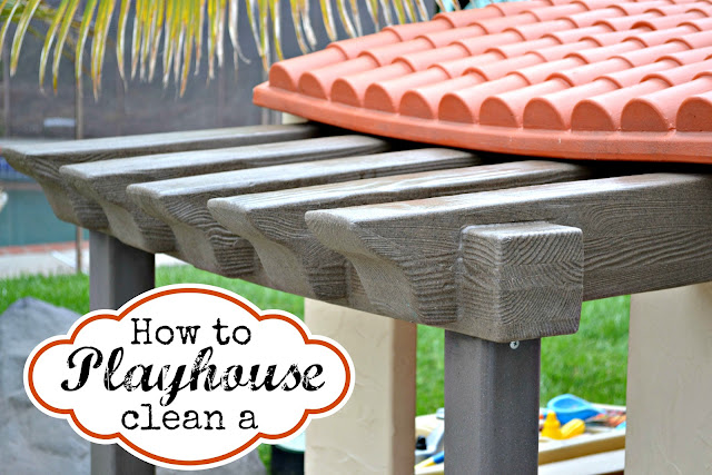 how to clean a playhouse, step2 adobe playhouse, Step2 test drive mom, Little tikes playhouse, clean step2 playhouse, clean little tikes playhouse
