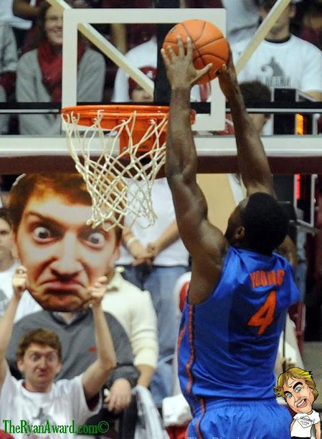 Weird NBA New York Knicks Fan with Poster