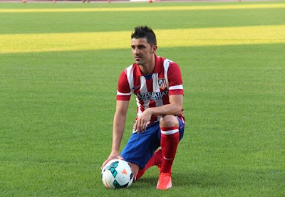 David Villa Atletico Madrid Terbaru 2014 Foto David Villa di Atletico Madrid Terbaru Musim 2013 2014