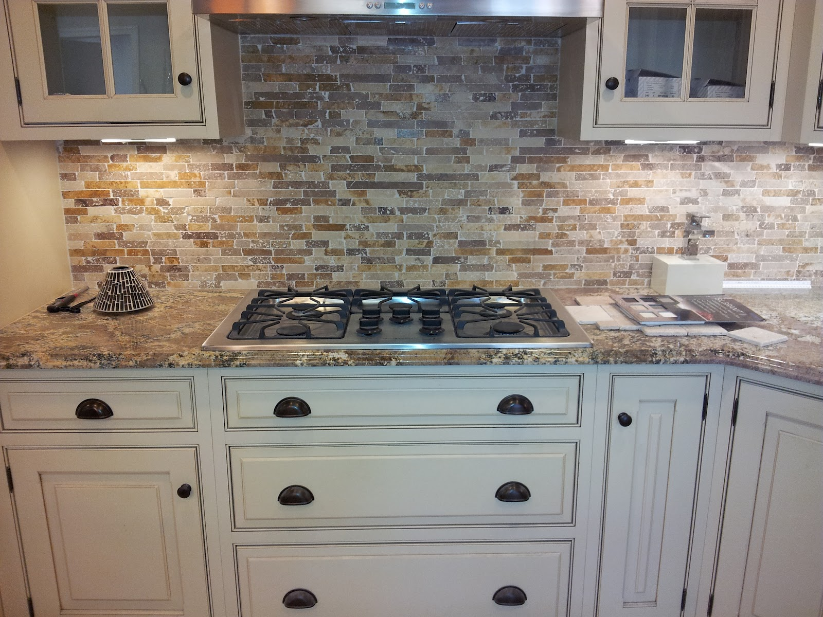 Mosaic Tile Backsplash with Granite Countertop