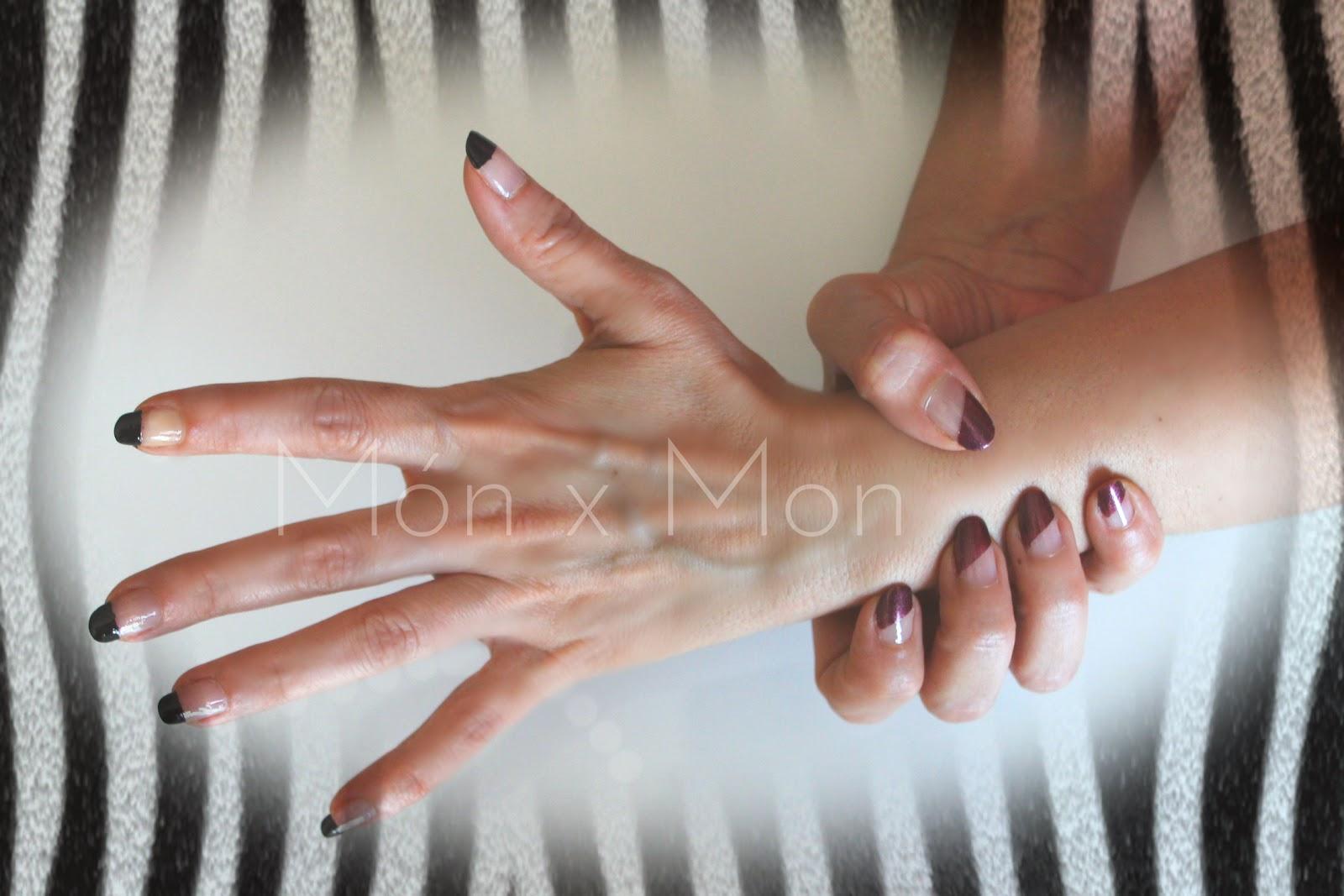 MON x MON : NAILS - MANICURA FRANCESA NEGRA, DIAGONAL Y MIXTA