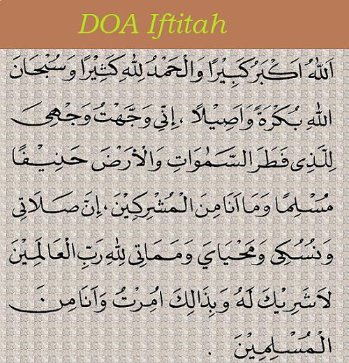 Doa Iftitah Dalam Rumi Dan Maksudnya