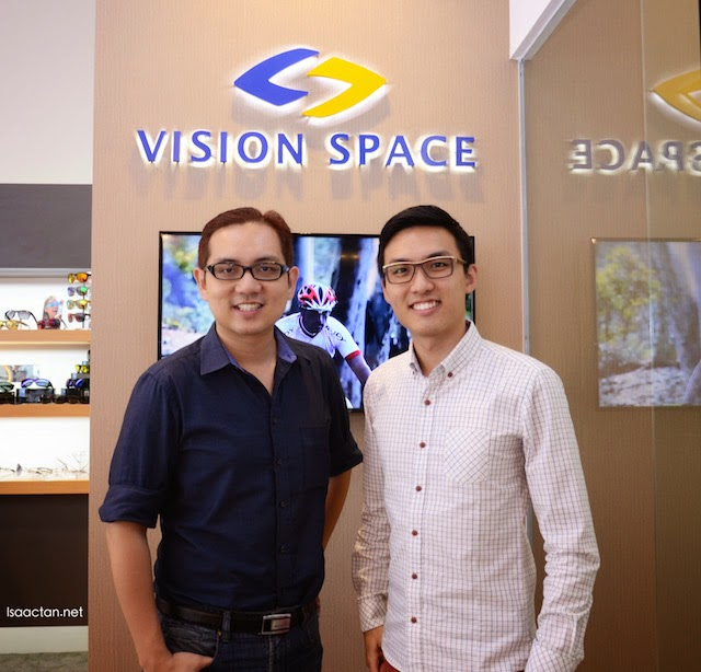 A shot with one of the partners of Vision Space Optometrist, Mr Aw