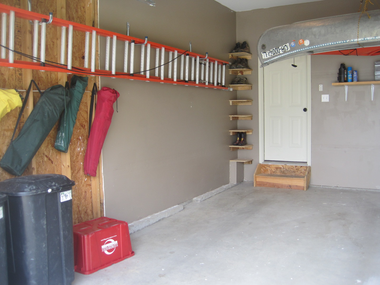 Garage interior paint ideas from the wall then paint