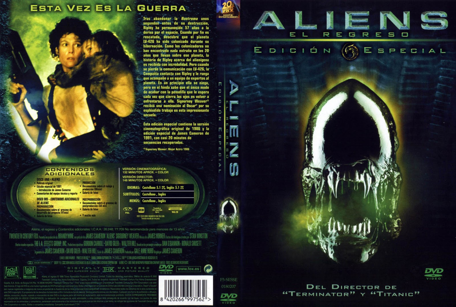 Aliens El Regreso (Version Extendida) DVD