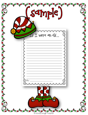 http://www.teacherspayteachers.com/Product/FREEBIE-If-I-were-an-elf-writing-page-1019236
