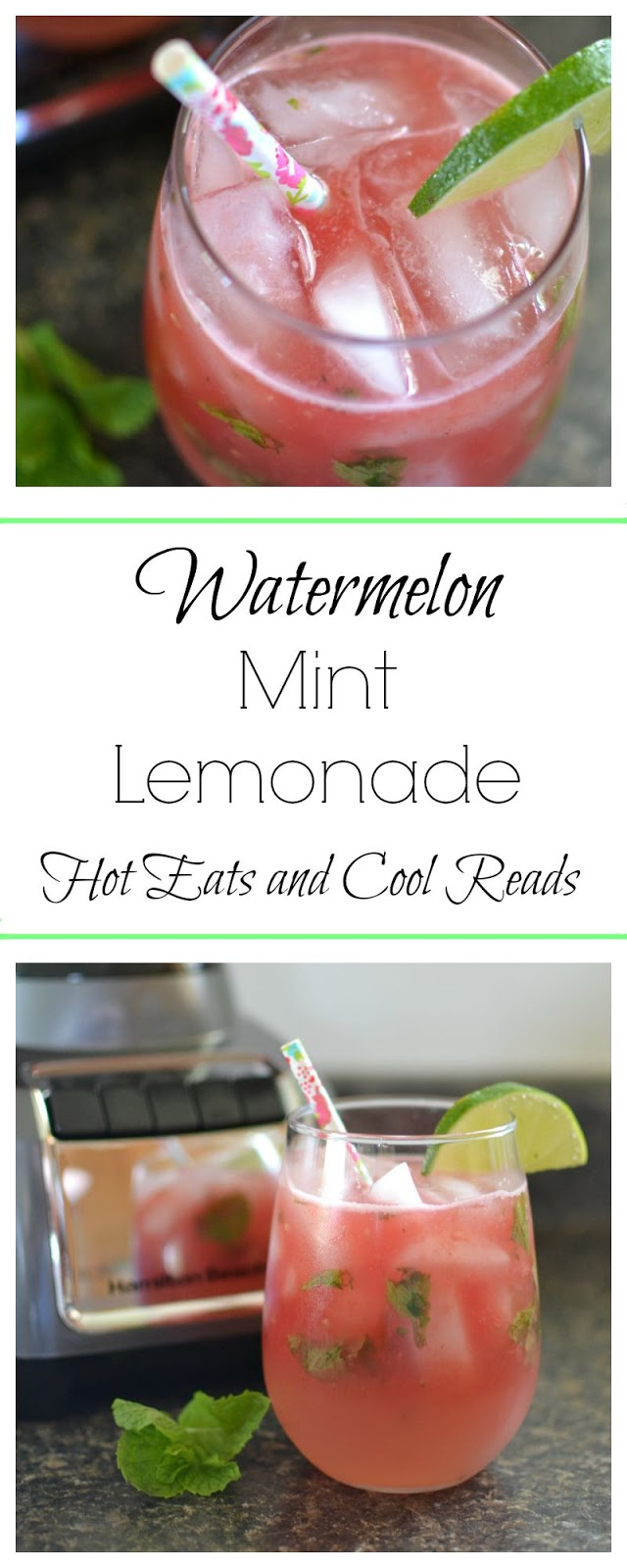 Eats and Cool Reads: Watermelon Mint Lemonade Recipe plus Giveaway
