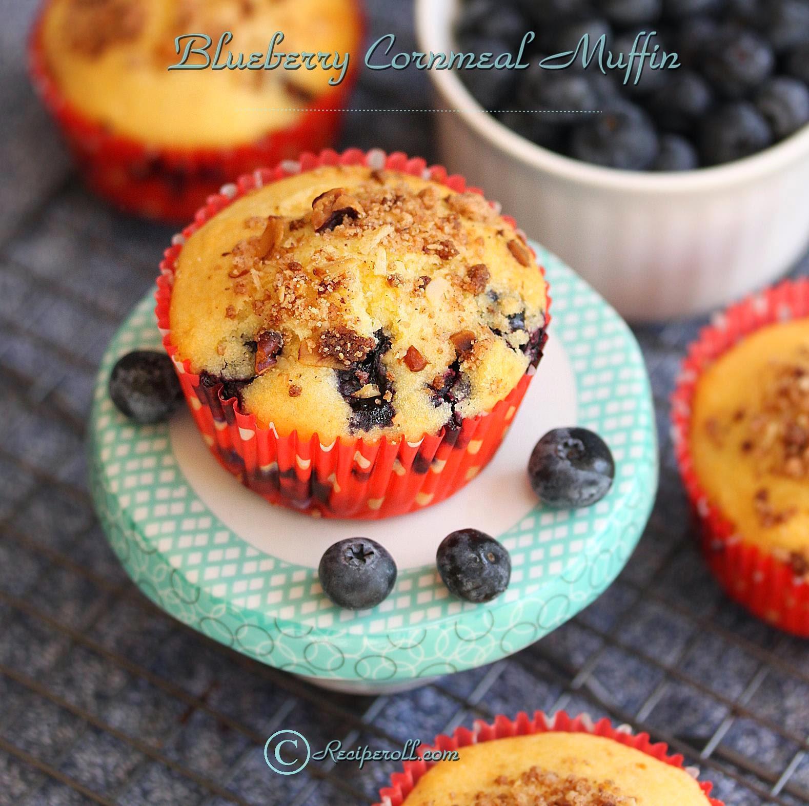 Blueberry Cornmeal Muffin | Cornbread Blueberry Muffins ...