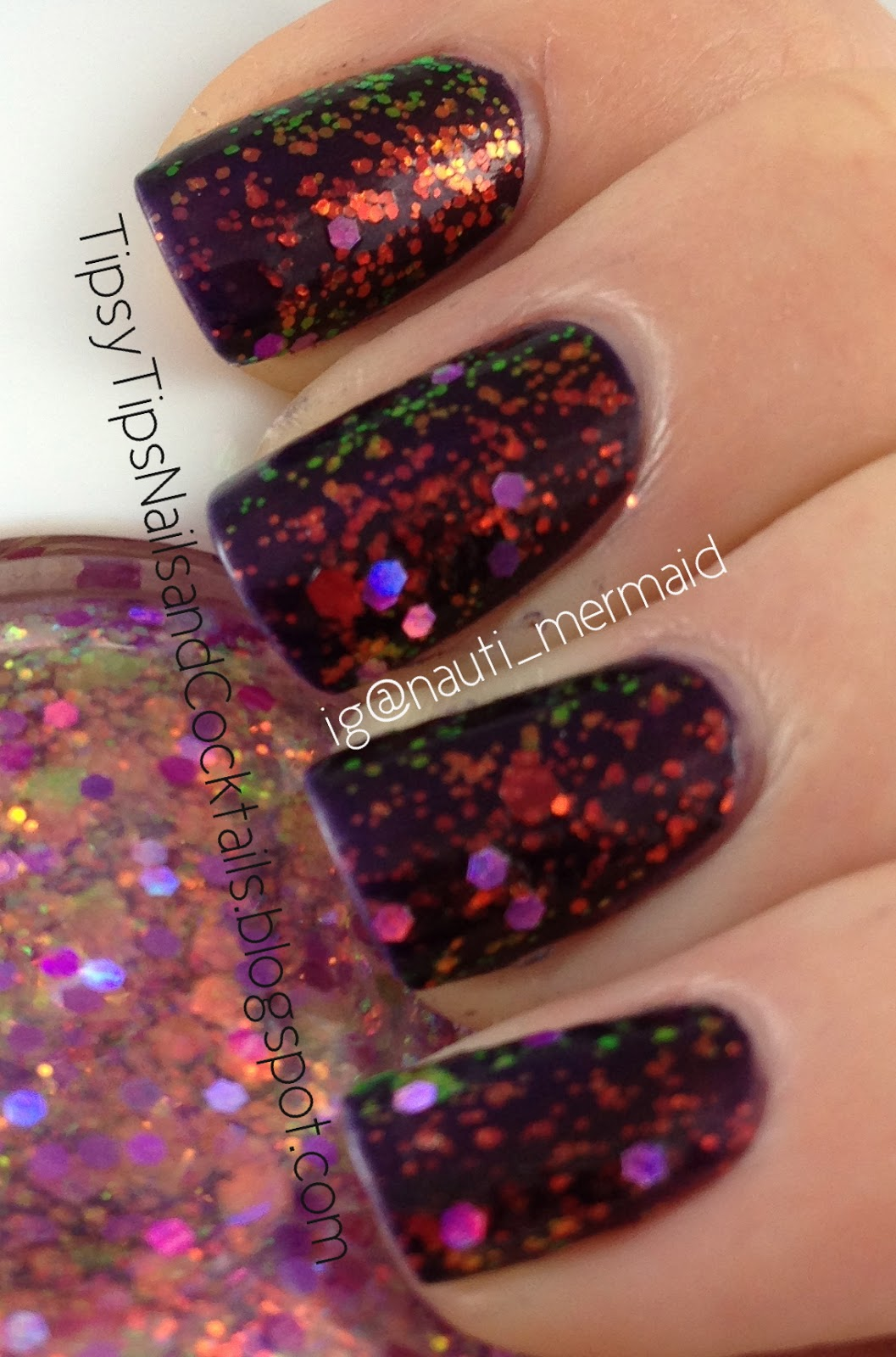 Nauti Nails: Swatch Tuesday! Nabi * Purple Jumbo Glitter