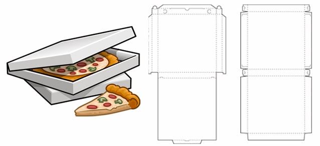 how to make a pizza box template