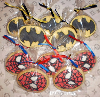 spiderman and batman fancy cookies