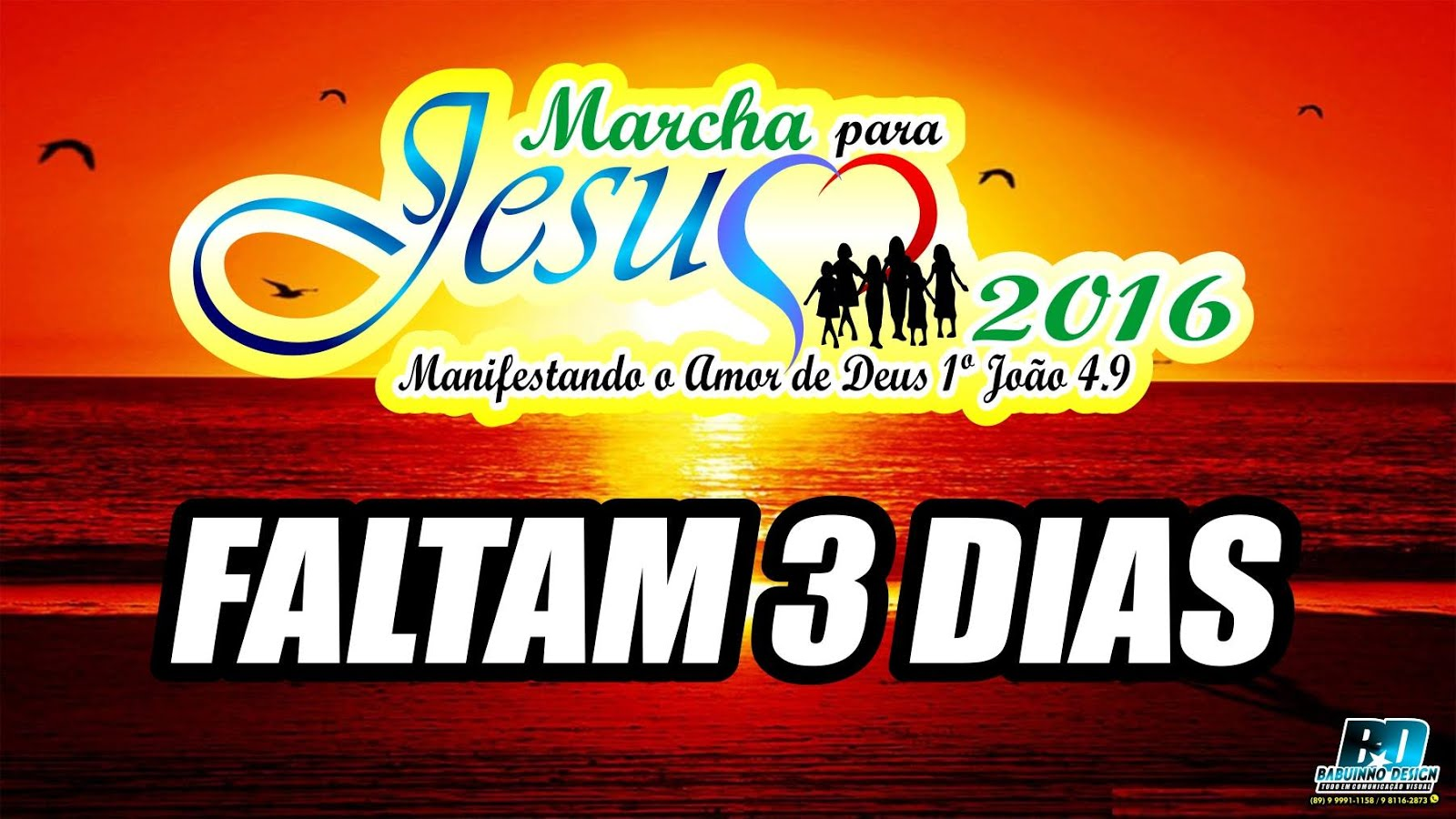 Marcha para Jesus de Bom Jesus, dia 13/08/2016