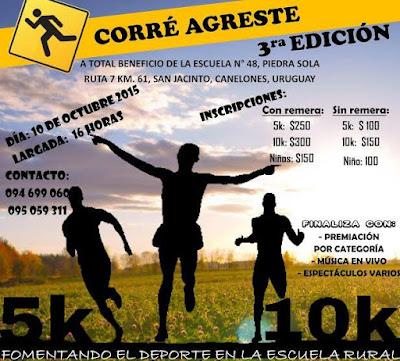 10k y 5k Corre agreste (Piedra sola, San Jacinto, Canelones, 10/oct/2015)