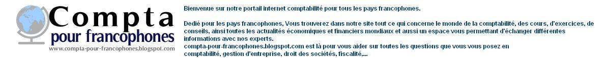 Comptabilité pour pays francophones