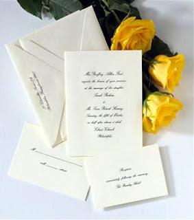 wedding ecru invitations