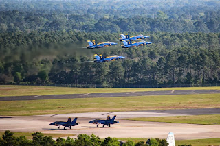 Blue Angels perform at Pensacola Naval Air Station