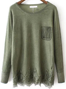 www.shein.com/Green-Round-Neck-Lace-Hem-Loose-Sweater-p-231727-cat-1734.html?aff_id=2687