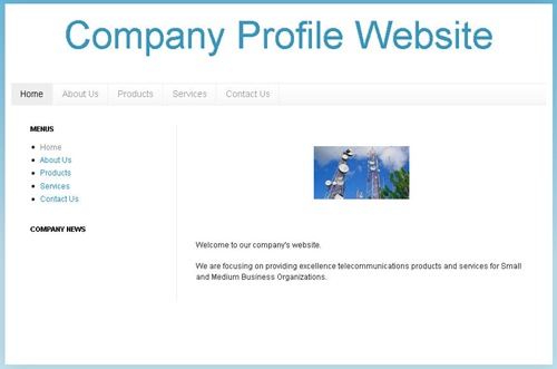 template blogspot company profile
