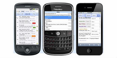 Android, BlackBerry dan iPhone