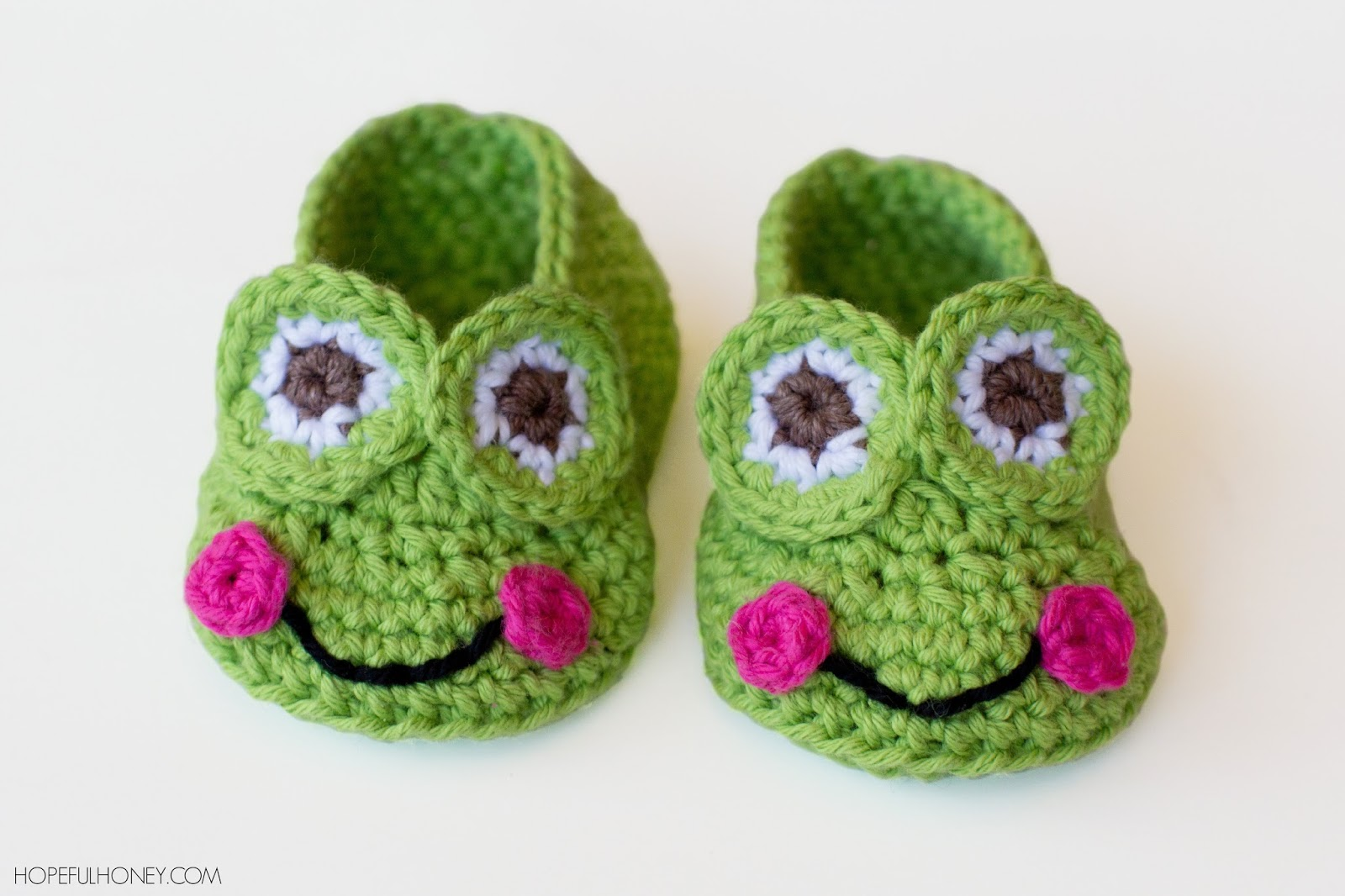 Hopeful Honey | Craft, Crochet, Create: Frog Baby Booties Crochet ...