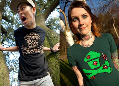 Johnny Cupcakes Animal Kingdom T-Shirt Collection - Leopard Crossbones & Ladybug Crossbones T-Shirts