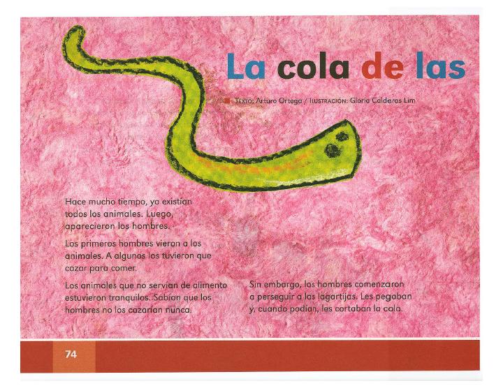 La cola de las lagartijas español lecturas 2do bloque 5/2014-2015
