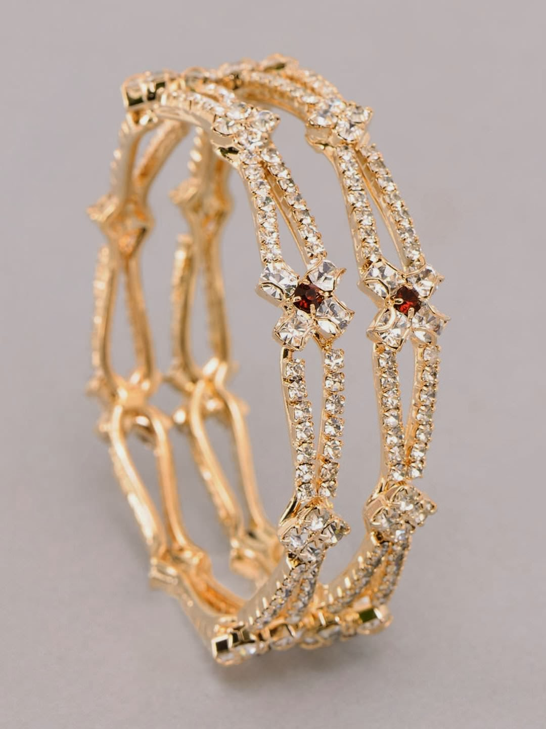 TOPTENFASHIONNEW: GOLD BRIDAL DIAMOND BANGLES